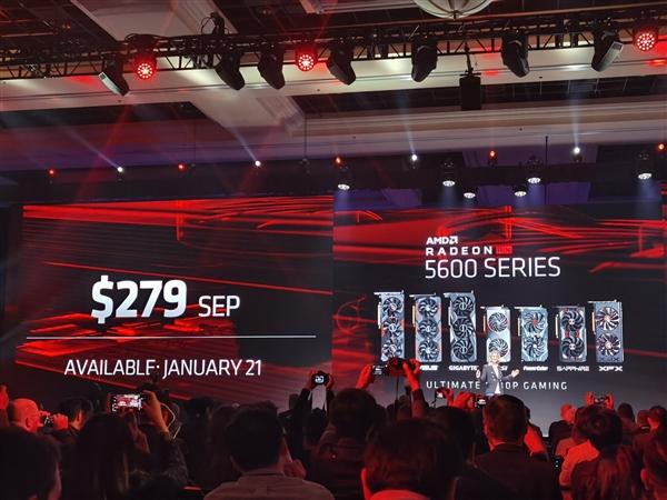 AMD正式公布RX 5600XT显卡:力压GTX 1660Ti!