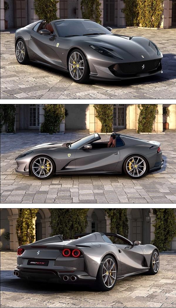 530万首!法拉利新旗舰812 GTS中国开卖:最完善V12敞篷超跑