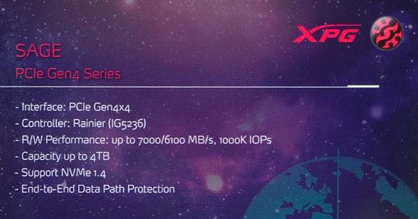威刚秀三款新PCIe 4.0 SSD:群联之后上慧荣、Innogrit主控