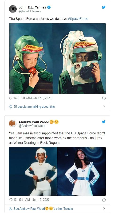 美太空军驯服公布 遭网友疯狂吐槽:这配色更正当往太空丛林!