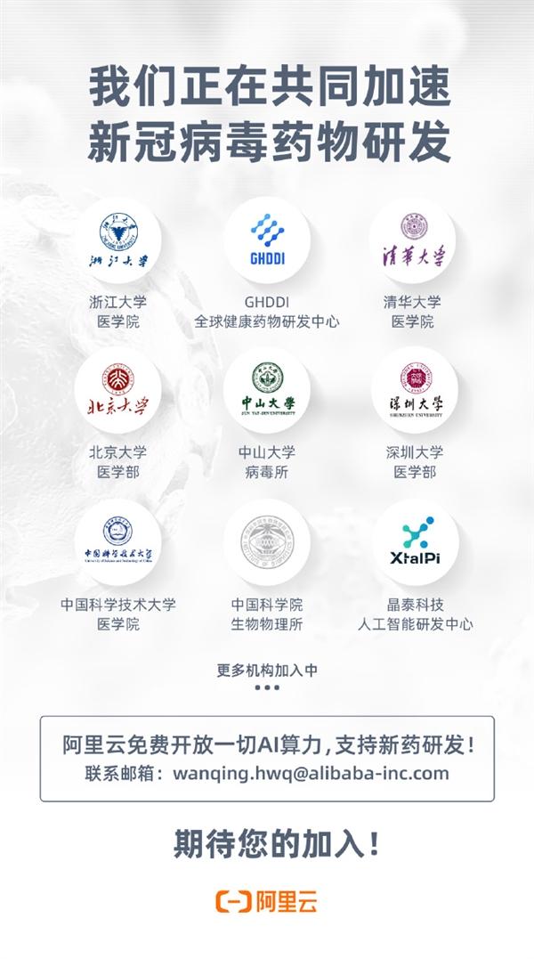 阿里云免费挑供一致AI算力 全球数十家权威医疗科研院研发药物