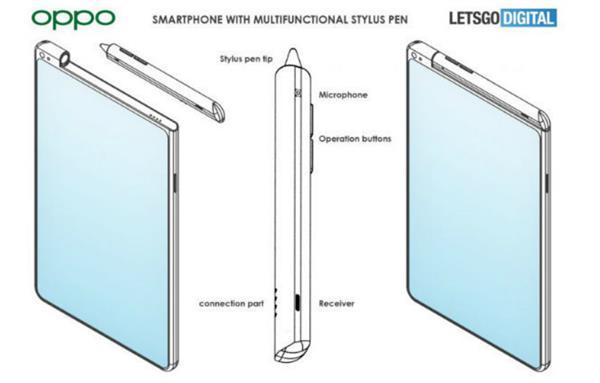 OPPO新专利曝光:触控笔不仅仅只是触控笔 它还是手机的额头