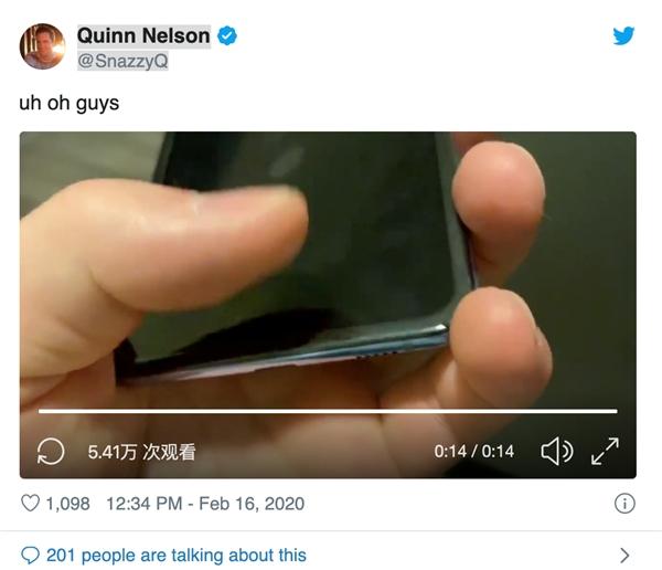 推特用户反馈Galaxy Z Flip出现问题:三星官方迅速跟进