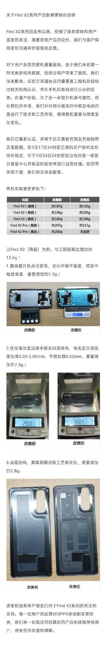 6999元起的手机重量有问题?OPPO发道歉声明:不满意可退款