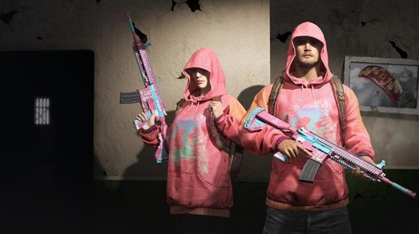 《绝地求生》三周年皮肤免费送:粉色M416爱了