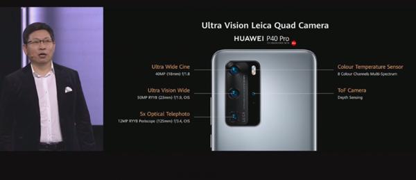 华为P40 Pro 镜头公布:徕卡五摄、10倍光变100倍数码变焦