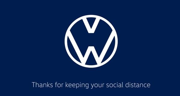 大年夜众、奥迪修改车标 用以提示人们留意社会隔离