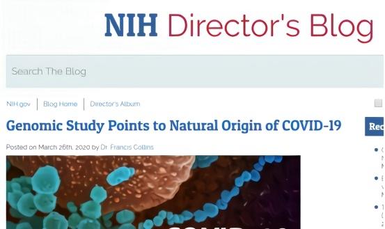 新冠病毒是人类本身造出来的?美国国立卫生钻研院院长给出答案