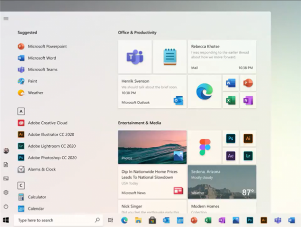 微软展示Windows 10全新开始菜单 网友:迫不及待想升级