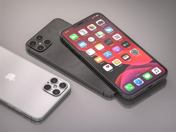 接近真机的iPhone 12 Pro高清渲染图:刘海变小+后置浴霸四摄