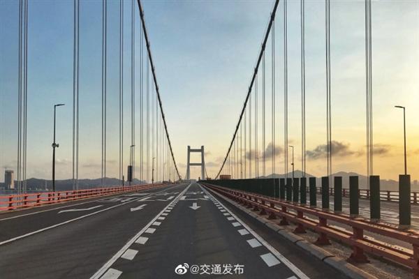 虎门大桥悬索桥已经历结构坦然评估 桥梁关键构件均未发现变态
