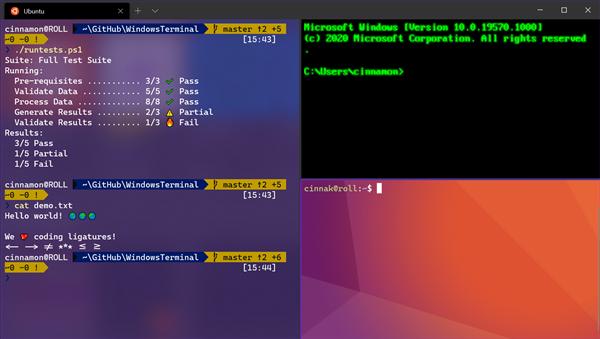 Windows Terminal 1.0正式发布:空前未有富强的命令走终端
