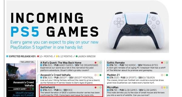 传《战地6》登陆PS5