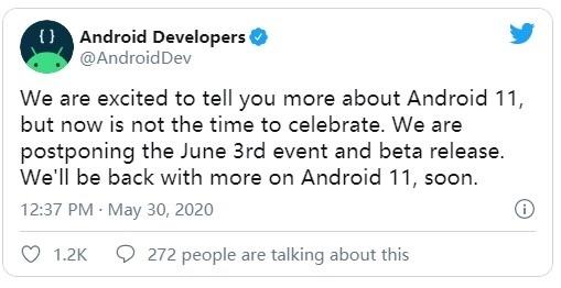 谷歌推迟Android 11 Beta发布:因美国多地爆发抗议等活动