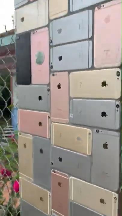 國外網友用iPhone砌了面墻 2000部手機組成奇觀