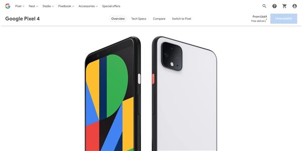 谷歌商店展现bug:Pixel手机整体缺货不及下单