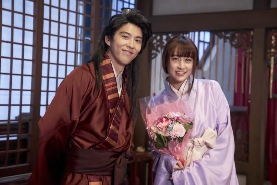 日本《三国》电影新片场照:幼乔、周瑜甜美相符影