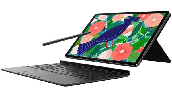 三星Galaxy Tab S7渲染图曝光:S Pen终于不再扁扁的了