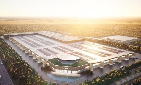 马斯克晒特斯拉柏林超级工厂 网友:户型图不错 啥时候交房