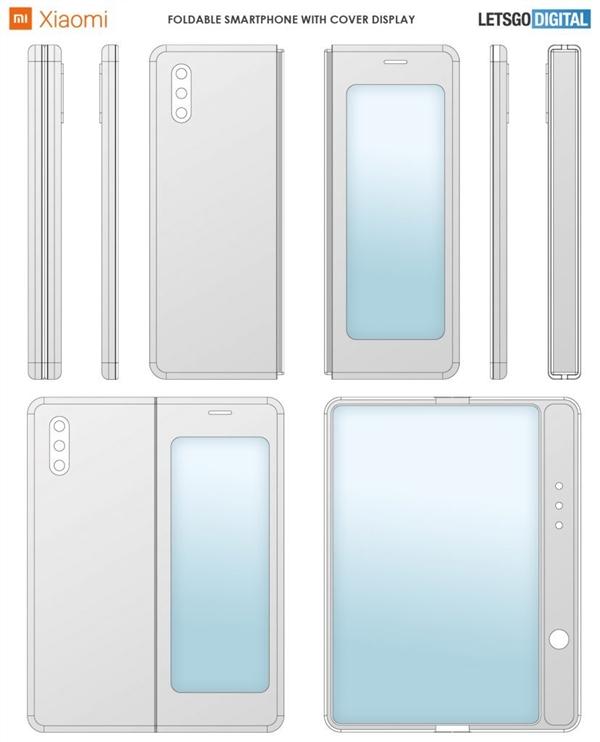 小米折叠屏手机新专利公开:内外双屏、书本式开合