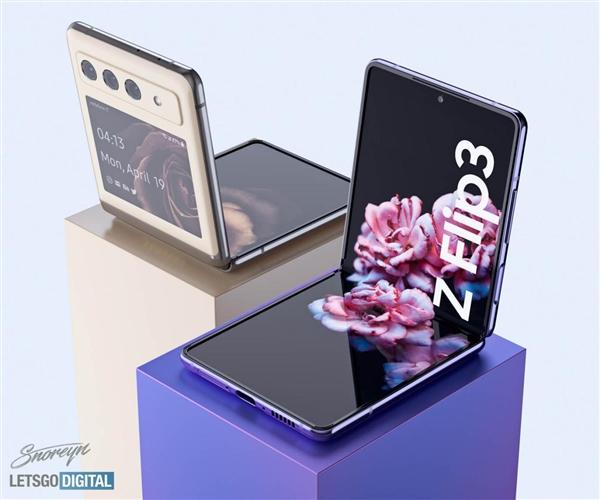 折叠屏最优方案!三星Galaxy Z Flip 3外形曝光:骁龙888加持