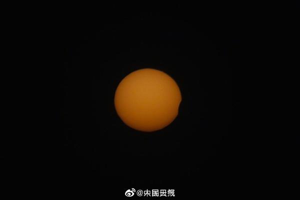 北京傍晚出现日偏食:一大波萌萌的美图来了