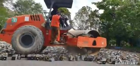 大快人心!马来西亚1000多台非法比特币矿机被碾压销毁