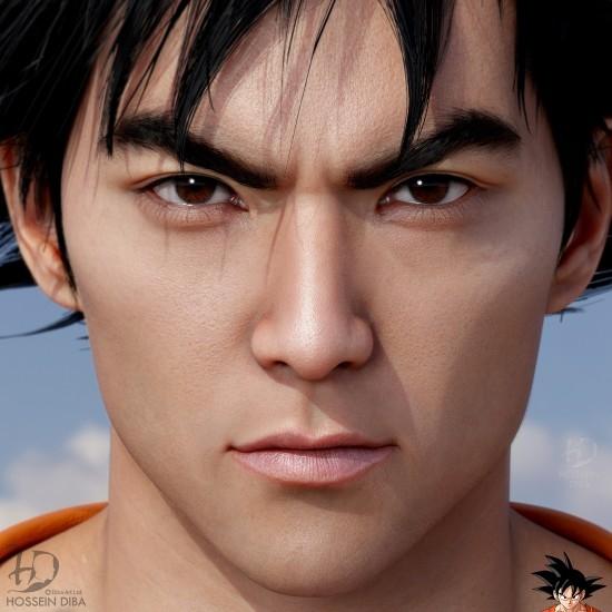 大神创作《龙珠》悟空3D真人现象 相貌俊朗发型神还原