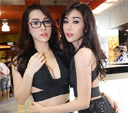 泰国展上的美女模特