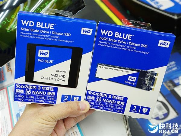 西数64层堆叠Blue SSD开卖:一看价格想哭