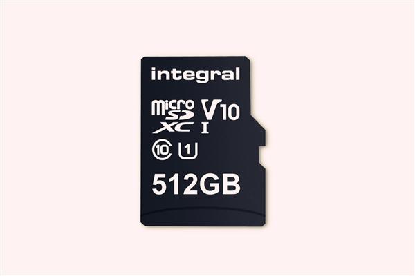 全球最大容量microSD存储卡宣布上市:512GB、10MB/s