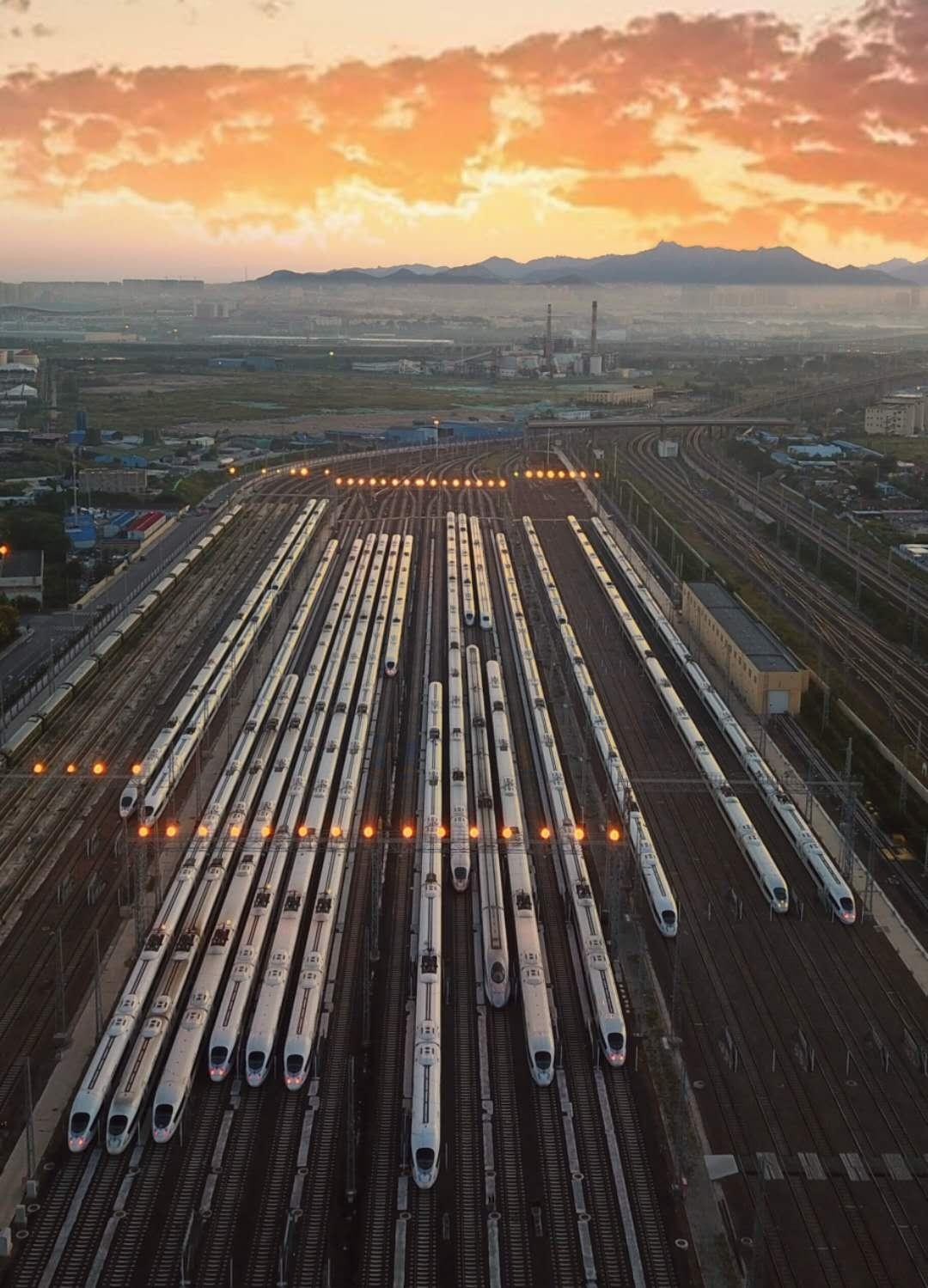 最新资讯_震撼还是震撼!请看中国高铁舰队-高铁,动车, ——快科技(驱动之 ...