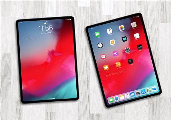 iOS 12测试版:iPad Pro屏幕采用圆角矩形设计