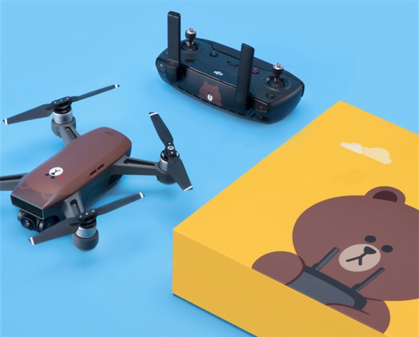 Line Friends布朗熊涂装 大疆发布卡通版晓无人机:3299元