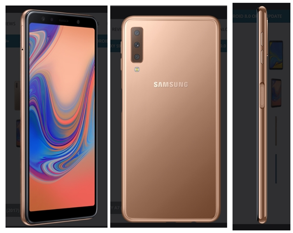 三星发布2018款Galaxy A7新机:2400万后置三摄、侧指纹