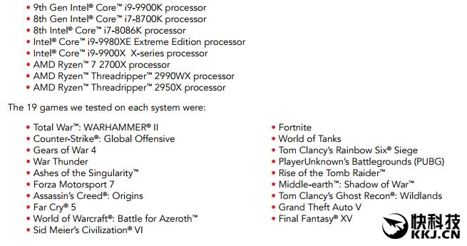 Intel i9-9900K游戏测试惹争议:能领先AMD Ryzen 7 2700X 50