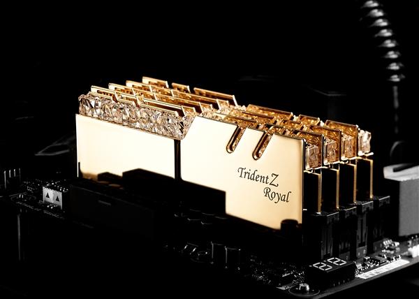 皇钻加冕!芝奇发布全新皇家戟DDR4内存:八组RGB