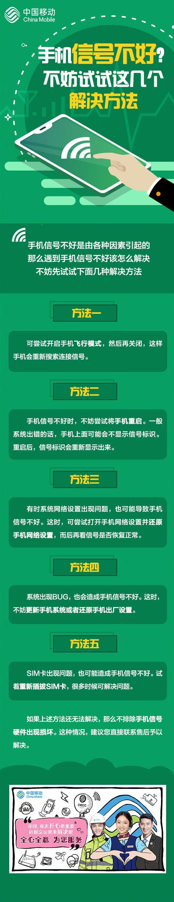 手机信号不好?中国移动官方公布解决办法