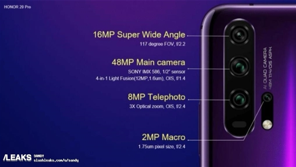 关于科技的ppt荣耀20 Pro为后置四摄