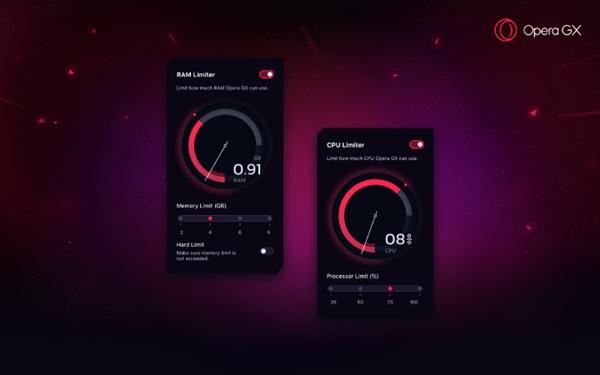 世界第一款游戏浏览器Opera GX发布:占用多少内存你说了算