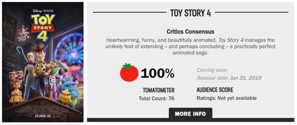 《玩具總動員4》口碑解禁:相當不錯