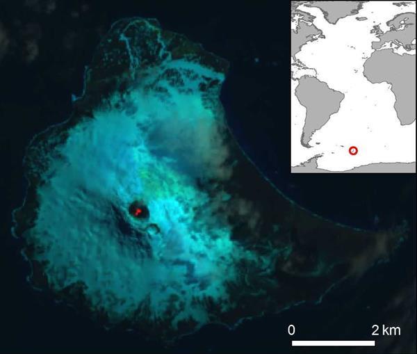亚南极岛屿发现罕见熔岩湖 全球第八个