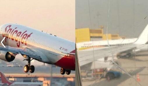 真开挂民族!印度一航班机窗破裂用胶带粘上后继续飞行
