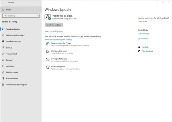 Windows 20新版Build 210646推收 4年夜功用更新