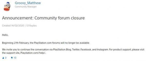 18年的堅守終說再見!索尼官方PS論壇將于2月27日正式關閉