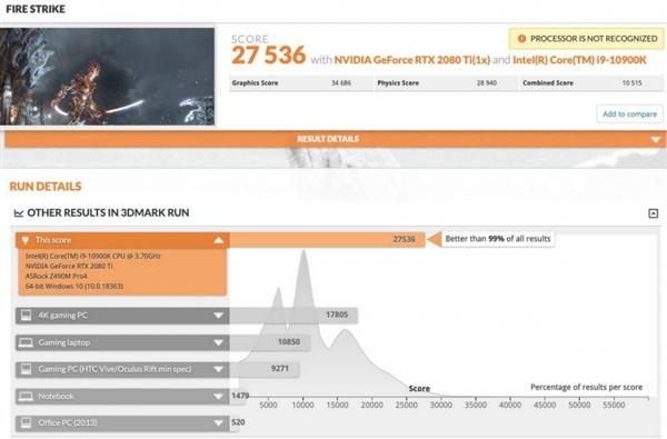i9-10900K 3DMark跑分曝光:10核20线程 5.1GHz的性能怪兽