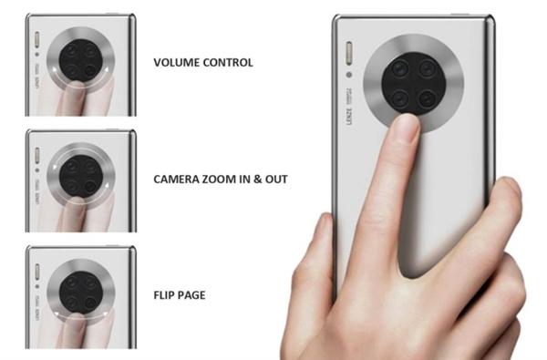 Mate 40要用?华为新专利技术曝光:摄像头圆环支持触摸、可当副屏