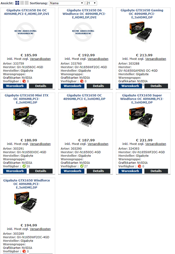 GTX 1650升级GDDR6显存:带宽提升50% 竟然降价了