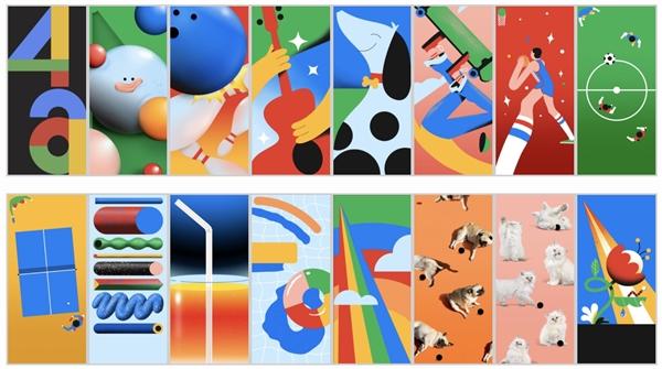 谷歌Pixel 4a 16张静态壁纸曝光:挖孔屏绝配