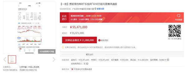 贾跃亭2210万股乐视股票今日拍卖:万人围观 0人报名